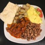 Red Pork Chile Colorado Breakfast Plate